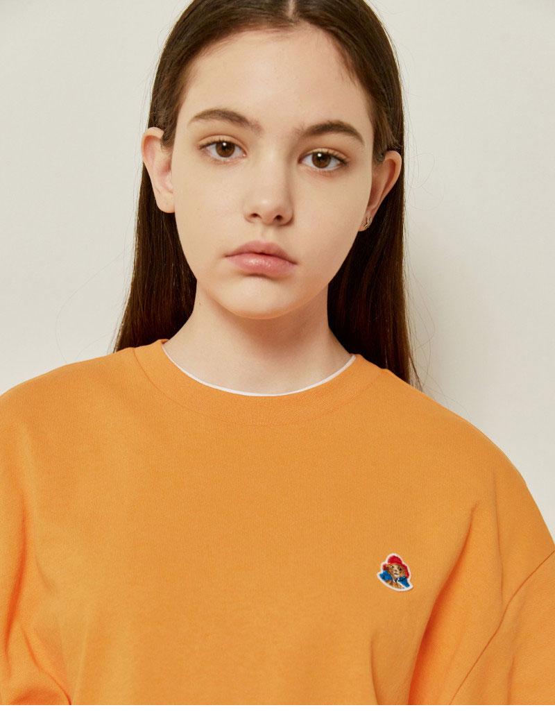 헤지스(HAZZYS) [패딩턴] 오렌지 패딩턴 미니 와펜 반팔티셔츠 HZTS1B753O2