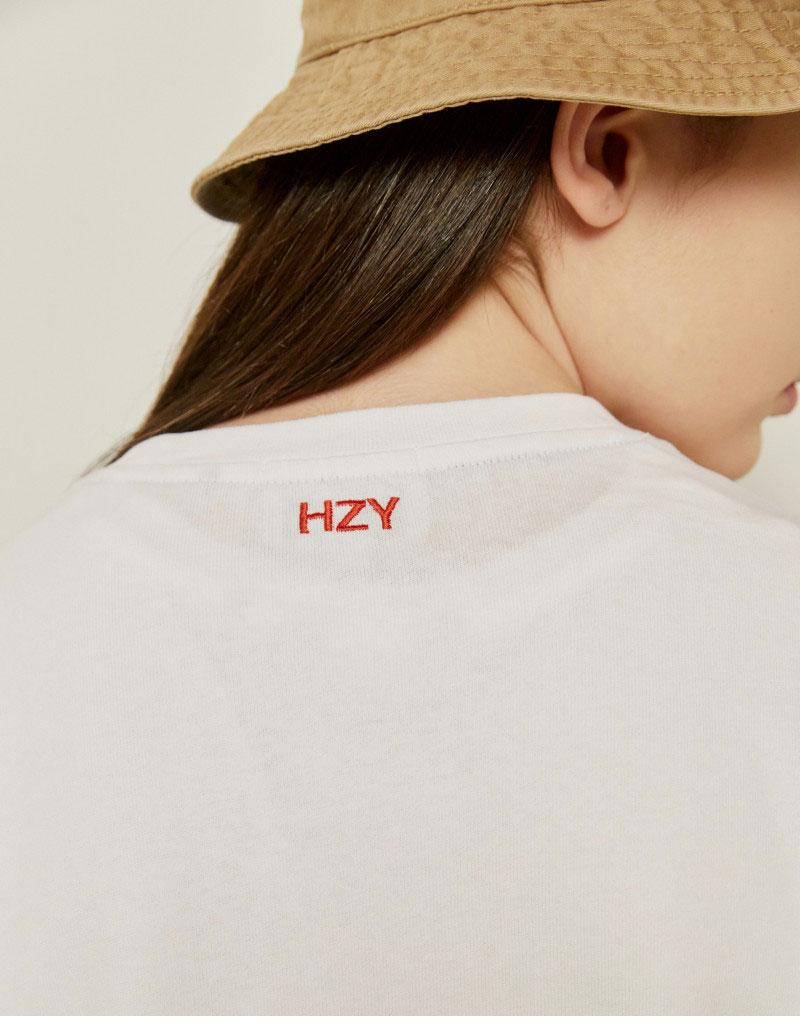 헤지스(HAZZYS) [패딩턴] 화이트 패딩턴 미니 와펜 반팔티셔츠 HZTS1B753WT